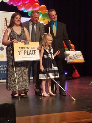 JCPS student Carmynn Blakeley won the National Braille Challenge in Los Angeles over the weekend.