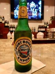 A Honduran beer at the new bar at the expanded El Acajutla