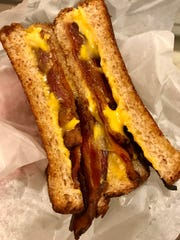 A bacon-grilled-cheese sandwich from Marti's Family