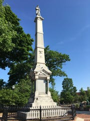 Sheboygan's Civil War memorial is located in the city's