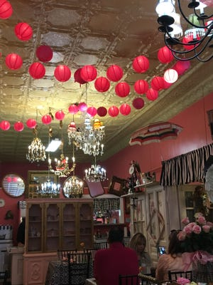 Ms. Gilmore's Tea Room and Vintage Suitcase is a perfect place to dine and shop. It makes for a lovely ladies' lunch date.