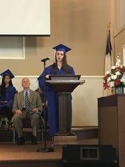 Tabernacle Christian Academy valedictorian Emilie F.