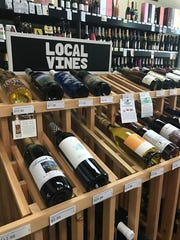 Local wines at Mason's Cellar in Rutherford.