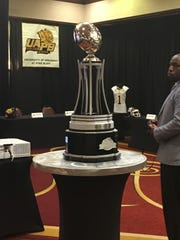 The Air Force Reserve Celebration Bowl trophy, won