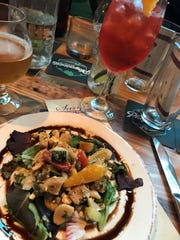 Second course: Panzanella Salad served with an Aperol
