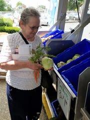 Sharon Laster enjoyed shopping at the Seton Harvest