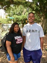 Oneisha Smith, 18, and George Harrison, 23, both University