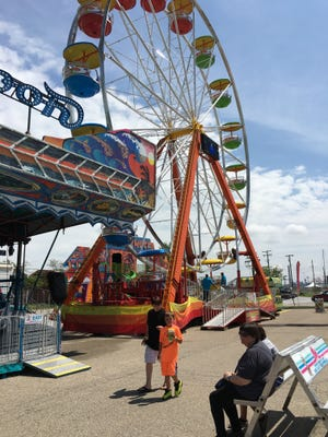 The Blue Water Fest Carnival offers rides, fair food and games. Sunday was the last day.