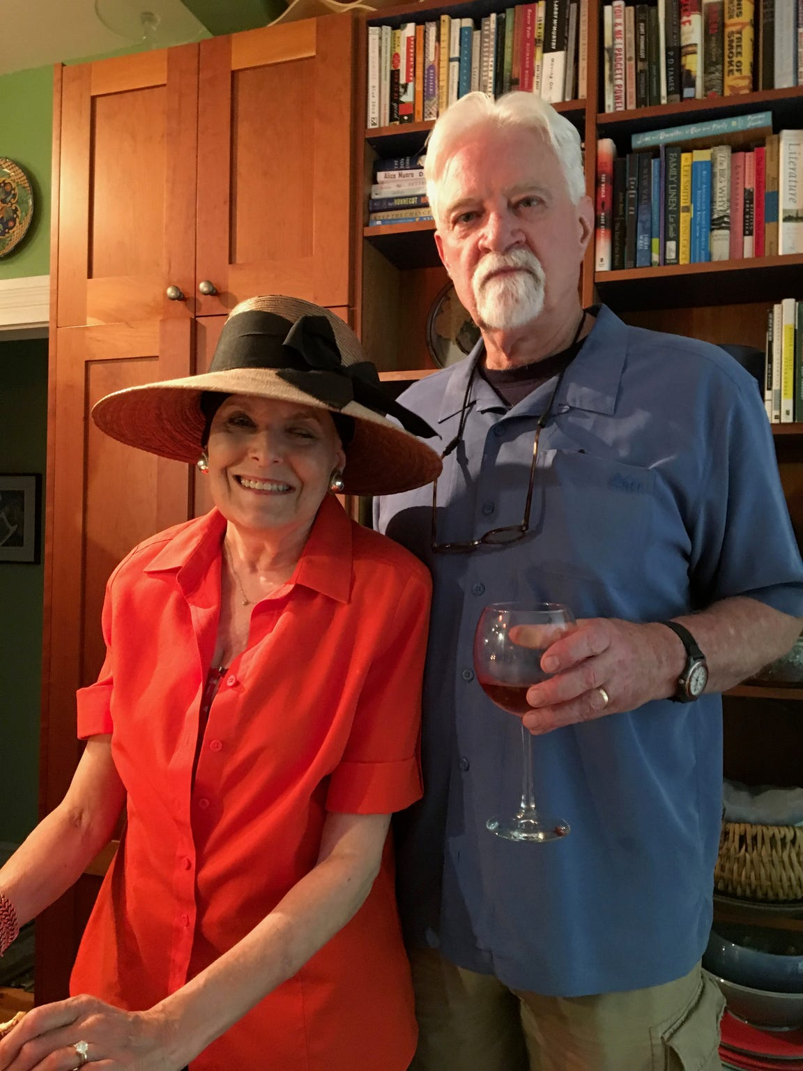 Rabbi Lynne Landsberg with her husband Dennis Ward on July 21, 2017, Landsberg's 66th birthday.