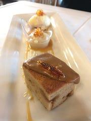 Butterscotch was the star flavor of dessert at Veraisons