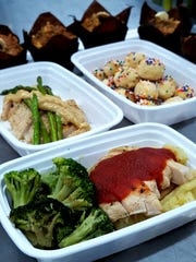 "Simply Prepped Meals by Amanda Smith might include a full entree, such as chicken with barbecue or cashew honey butter sauce, protein ""popables"" or banana muffins."