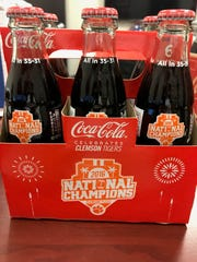 Clemson national championship Coca-Cola bottles hit store shelves the week of Aug. 14.
