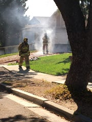 This was the scene Friday afternoon in Ventura as city firefighters battled a blaze in the 10000 block of Darling Road.