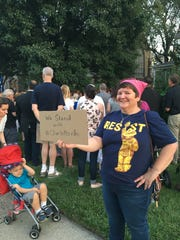 """Susan Schutt of Ridgewood. """"I'm here to stand against"""