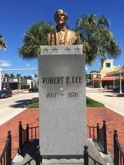 A Robert E. Lee statue was installed on Monroe Street