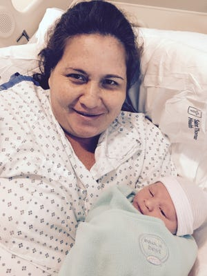 """Jose Francisco Castellanos Cordova was born at 1:09 p.m. Monday, just before totality of the solar eclipse. His mom, Maria Castellanos Cordova, calls his arrival on such a significant day """"unforgettable."""""""
