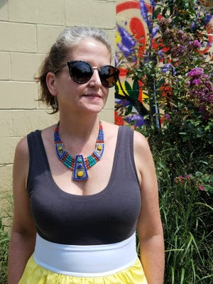 """Karen Supak of Evansville is known as """"Indiana Jane"""" when she takes her archaeology education program to local schools and groups. Foodways are a big focus of her presentations."""