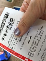 A Powerball lottery ticket purchased Tuesday at Fremont's Circle K has a 1-in-292-million chance of winning the estimated $700 million jackpot Wednesday.