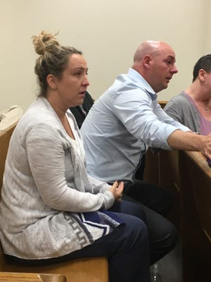 Dan and Danielle Jenkins listen Friday as the verdict is read in the DUI manslaughter trial of Michael Phillips in Hardee County.