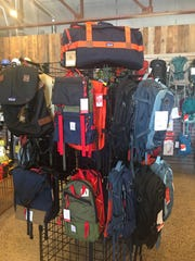 The store carries a variety of bags for any size adventure.