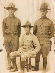 The Kreichbaum brothers of Chambersburg served during World War I -- Philip E., Joseph R. and Casimer B.