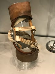 The knee brace Joe Namath wore during the Jets' Super