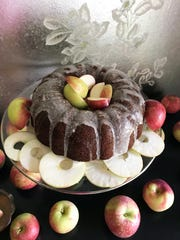 Apple honey cake is that much better made with Wisconsin apples.