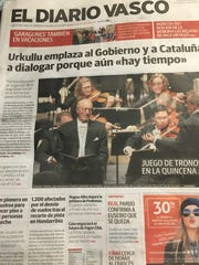 The CSO was front-page news in Spanish newspapers.
