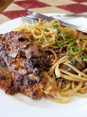 The chicken Marsala at Lombardi's is flavored with