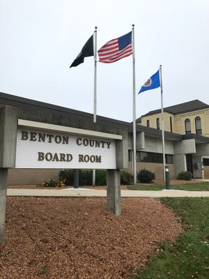 The Benton County government offices in Foley, Minnesota, on Tuesday, Sept. 19.