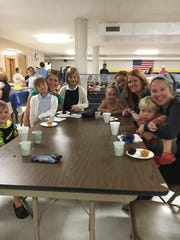 Moms and kids from St. Margaret Mary Elementary School