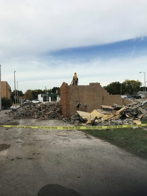 This rubble was once Bob's Bait Shop on Highway 100 in West Allis. It was torn down on Sept. 20 to make way for a child-care center.