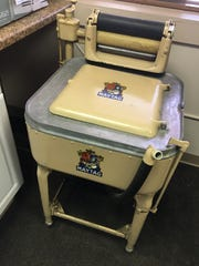 This early electric Maytag washer came with a meat