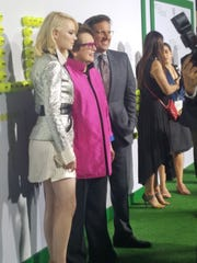"Emma Stone, Billie Jean King and Steve Carell  appear together at the ""Battle of the Sexes"" premier at Westwood's Regency Village Theatre on Sept. 16."