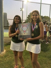 The J.P. Stevens first doubles team of Divya Talesra