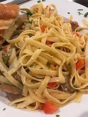The Gavel's fettuccini with sweet Italian sausage