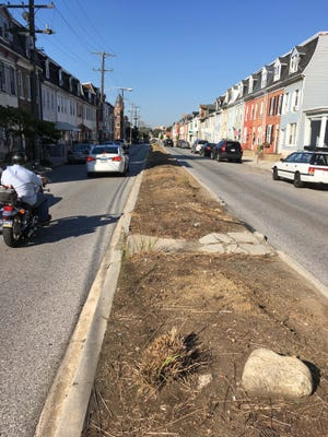 The now barren traffic islands on East Philadelphia Street could be upgraded within a year.