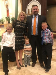 Brianne and Marc Thoreson with their three sons, Lucas, 9, Zachary, 2, Jacob, 11.