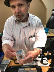 Michael Carter had a booth at the Mid Minnesota Coin