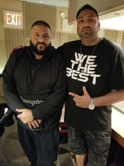 Sameer Sarmast with DJ Khaled (left)