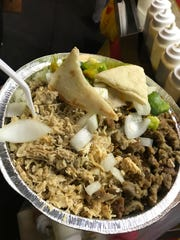 Mixed gyro platter photo taken by Sameer Sarmast for