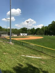 A playing field at the Hillcrest School in West Milford,