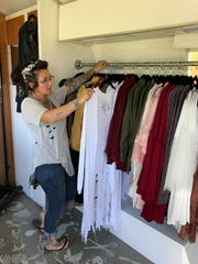 A peek inside the mobile Sacer and Savive Boutique.