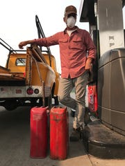 Chris Melancon, 50, filled gas cans to run the generators