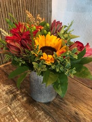 A floral arrangement from All Tied Up Floral Cafe in
