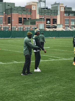 Packers rookie CB Kevin King was at practice Thursday, but did not take part.