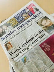The cover of the Sunday Independent for Sunday, Oct.