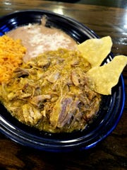 """Chili comes in all colors! From the Texas """"bowl of red"""" to white chicken chile to the New Mexican chile verde (green chili). This green chili was enjoyed at our local Los Bravos."""