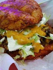 Adventurous eaters will enjoy pambazos, a sandwich