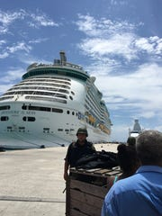 The cruise ship that rescued Brenda and Rick Fioretti from Sint Maarten after Hurricane Irma.